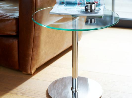 Circular glass top side table - Walter range