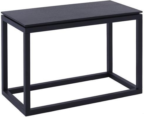 Cordoba Modern Large Side Table Black Wenge Finish