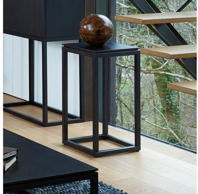 Cordoba Modern Plant Stand Telephone or Lamp Table Black Wenge image 2