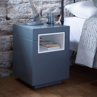 Savoye Contemporary Lamp Table - Matt Graphite Lacquer image 4
