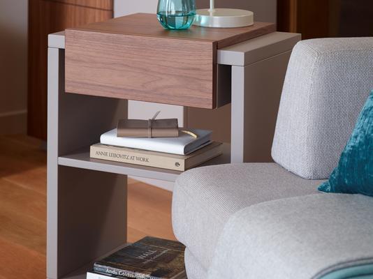Marlow Modern Lamp Table - Matt Stone Lacquer image 4