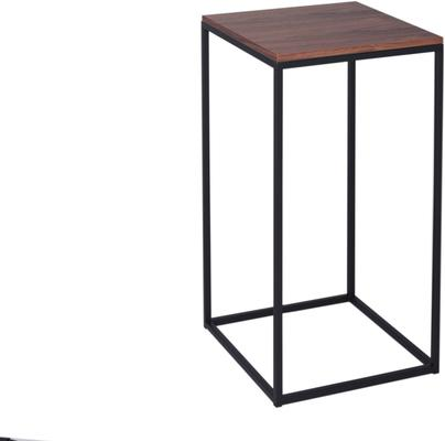 Kensal Square Lamp Stand Walnut Top - Black, Chrome or Brass Base image 2