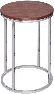 Circular Side Table with Walnut Top and Steel Base - Kensal range