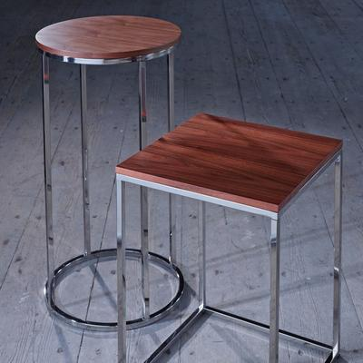 Kensal Circular Lamp Stand WALNUT image 4