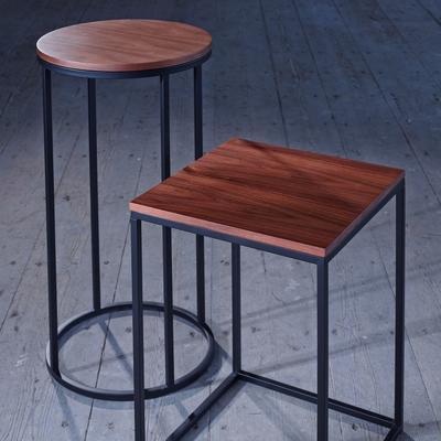 Kensal Circular Lamp Stand WALNUT image 5