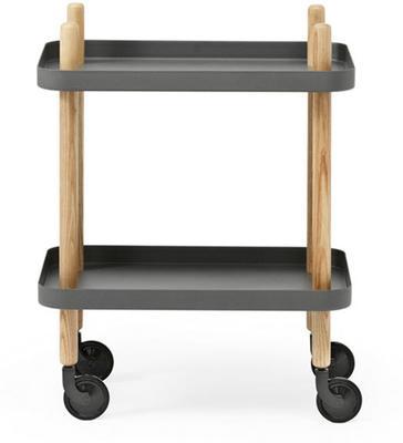 Normann Copenhagen Block Table - Dark Grey Trays