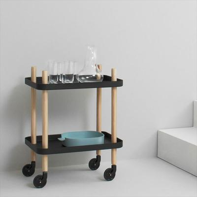 Normann Copenhagen Block Table - Dark Grey Trays image 2