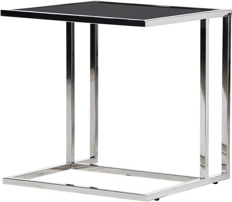 Black Top Side Table Silver or Copper Frame