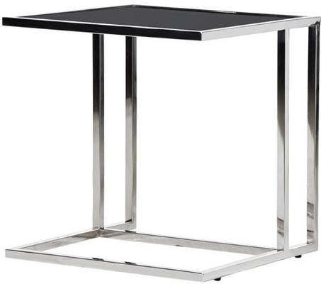Black Top Side Table Silver or Copper Frame image 2