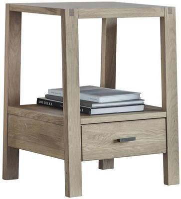 Kielder Simple Wooden Oak Bedside Table 1 Drawer