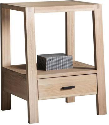 Kielder Simple Wooden Oak Bedside Table 1 Drawer image 3