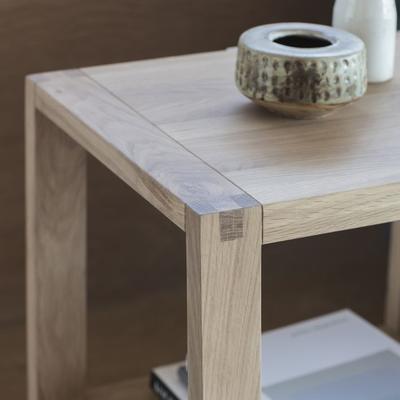 Kielder Simple Wooden Oak Bedside Table 1 Drawer image 5