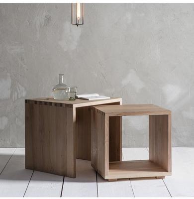 Kielder Nest Of 2 Simple Wood Tables