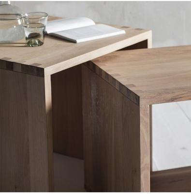 Kielder Nest Of 2 Simple Wood Tables image 3