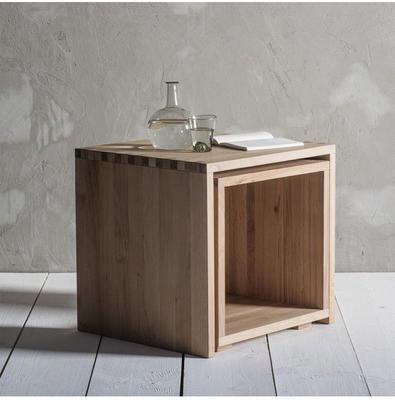 Kielder Nest Of 2 Simple Wood Tables image 4