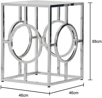 Geometric Polished Metal Side Table image 2
