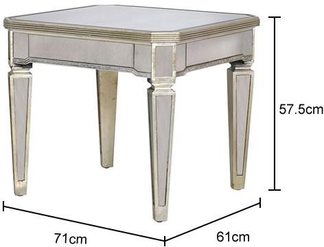 Venetian Mirrored Side Table Antique French Style image 2