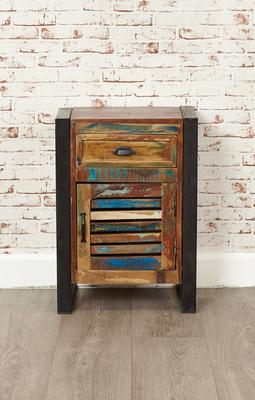 Shoreditch Rustic Lamp Table One Drawer Cupboard  image 2