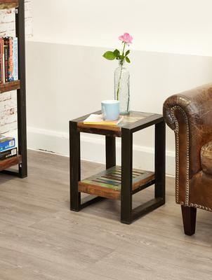 Shoreditch Rustic Low Lamp Table