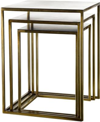 Nesting Gold Plated Retro Side Tables
