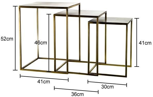 Nesting Gold Plated Retro Side Tables image 2