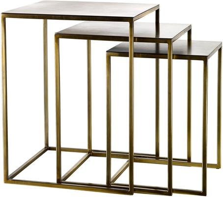 Nesting Gold Plated Retro Side Tables image 3