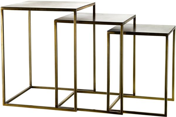Nesting Gold Plated Retro Side Tables image 4