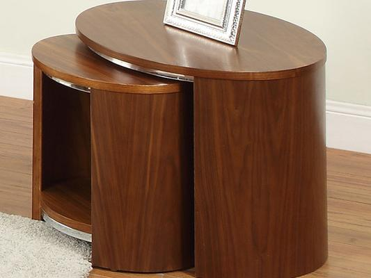 Jual Modern Nest of Tables with Wooden Top JF306 - Walnut or Oak