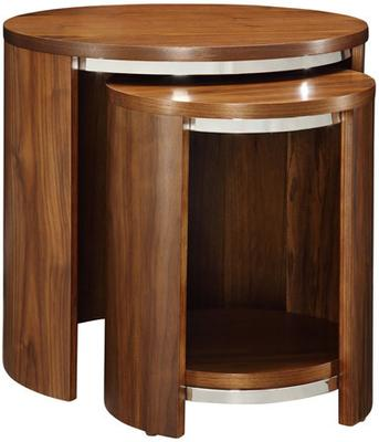 Jual Modern Nest of Tables with Wooden Top - Walnut or Oak image 4