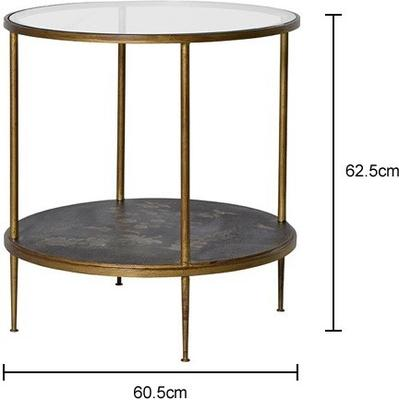 Gold Leaf Side Table with Picture Shelf image 2