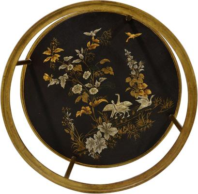 Gold Leaf Side Table with Picture Shelf image 3