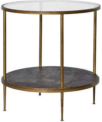 Gold Leaf Side Table with Picture Shelf image 4