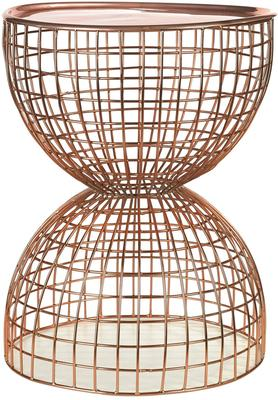 Wire Frame Diabolo Side Table Copper