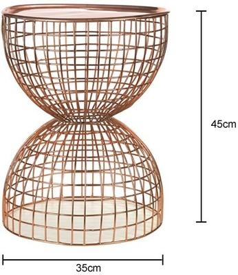 Wire Frame Diabolo Side Table Copper image 2