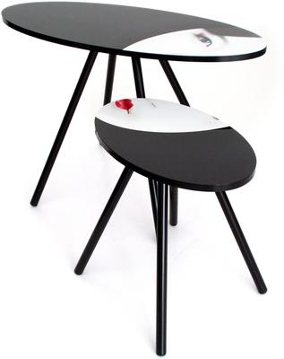 Acrylic Oriental Face Nesting Tables image 3