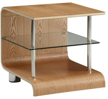 Jual Modern Curved Lamp Table BS204 in Ash or Walnut