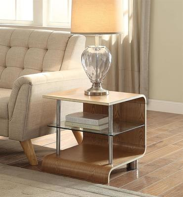 Jual Modern Curved Lamp Table BS204 in Ash or Walnut image 3