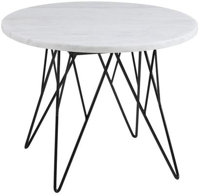 Prunus Contemporary Lamp Table White Marble Top