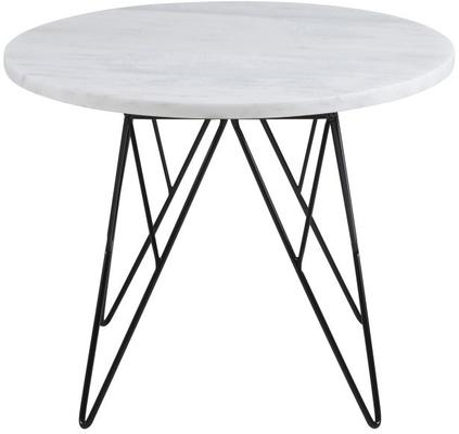 Prunus Contemporary Lamp Table White Marble Top image 2