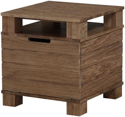 Jual Industrial Lamp Table in Rustic Oak image 2