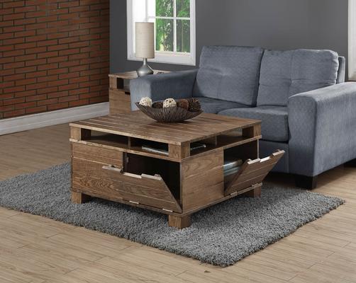 Jual Industrial Lamp Table in Rustic Oak image 3