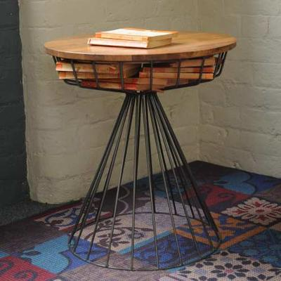 Birdcage Side Table Vintage Style