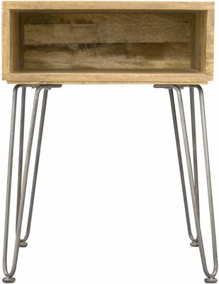 Hairpin Side Table Mango Wood and Steel image 2
