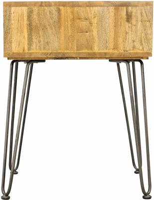 Hairpin Side Table Mango Wood and Steel image 3