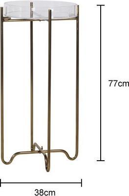 Acrylic Top Tray Table Metal Frame image 2