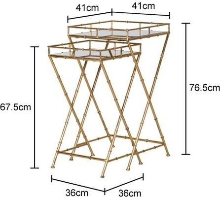 Bamboo Effect Iron Nesting Side Tables image 2