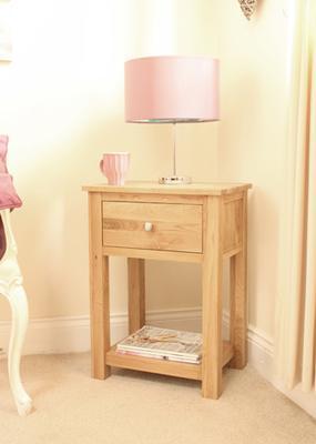 Mobel Oak One Drawer Lamp Table One Drawer image 4