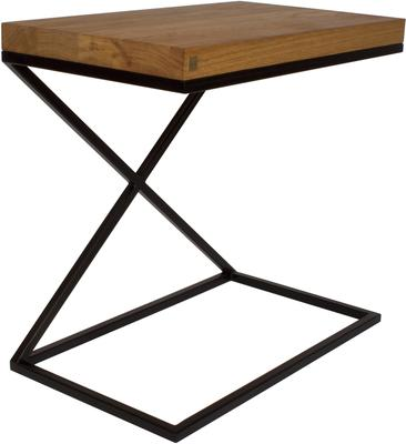 Nancy Side Table - Oak Top and Black Frame image 2