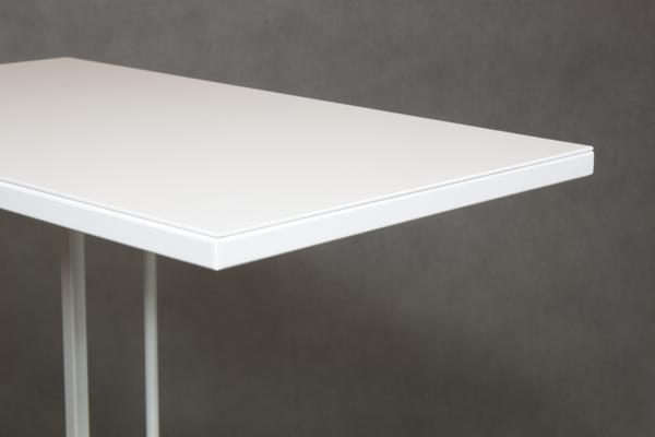 Monty Small Table - White Steel Finish image 3