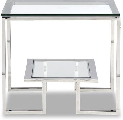 Mayfair Glass Side Table - Steel, Bronze or Brass image 7